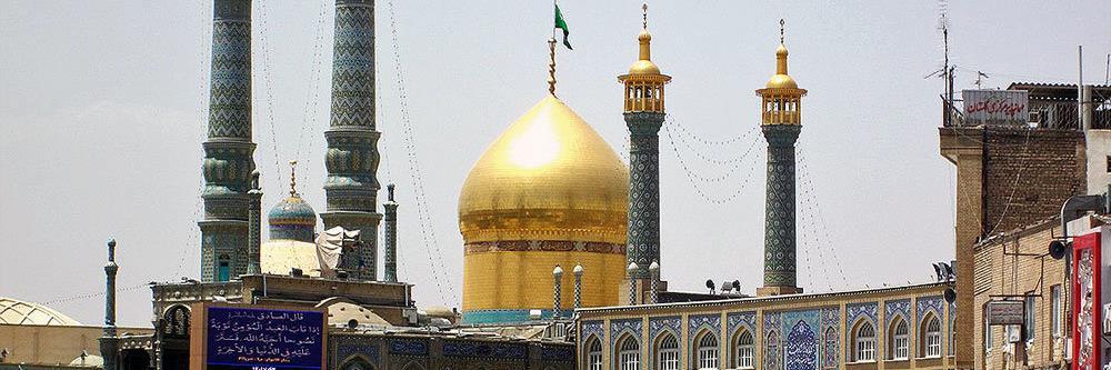 نمائی از صحن حرم حضرت معصومه در دوره قاجاریه