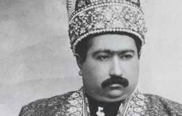 تاج گل اهدایی بنیتو موسولینی به مناسبت تشییع جنازه محمد علی میرزا