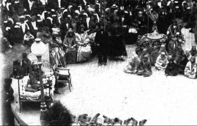 مراسم عزاداری روز عاشورا در میدان توپخانه در اوایل دوره پهلوی