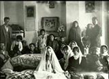 تصویری از مراسم عروسی یک خانواده اعیان در دوره قاجاریه