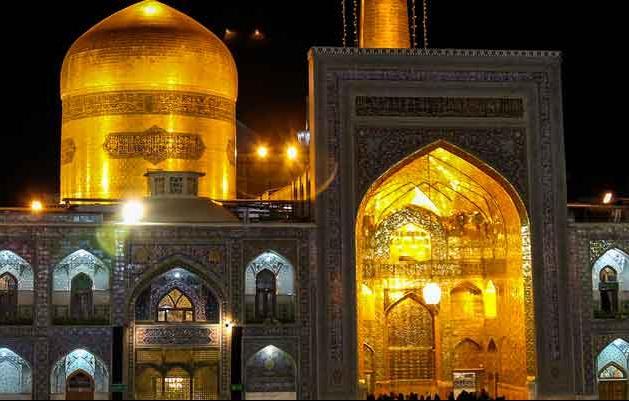 تعمیر ایوان عباسی یکی از ایوانهای بارگاه امام رضا (ع ) در دوره قاجاریه