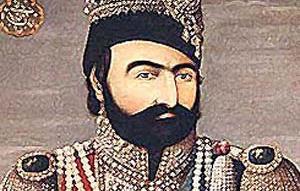 محمد شاه قاجار در حال گفتگو با مشاوران خود