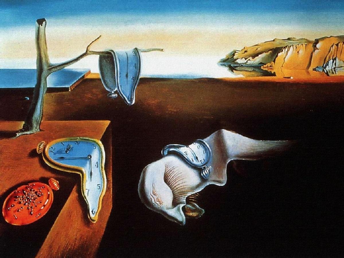 نظریه نسبیت به روایت تابلوی نقاشی «تداوم حافظه»