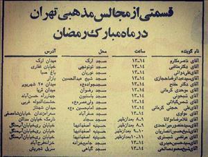 نیم قرن پیش منبرهای مساجد اصلی تهران در اختیار چه کسانی بود+عکس