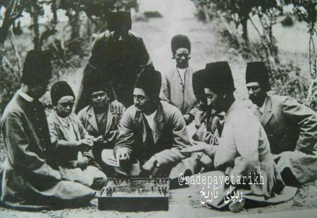منچ بازی رجال قاجار