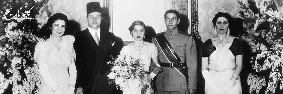 کارت عروسی محمدرضا پهلوی و فوزیه+عکس
