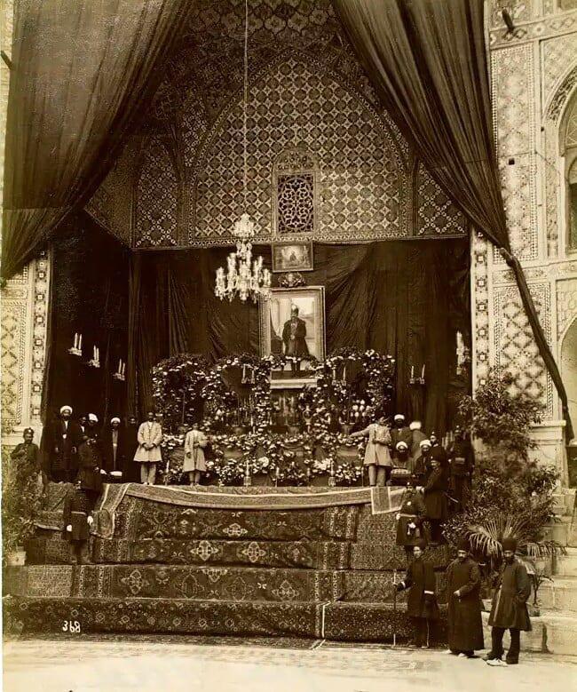 تابوت ناصرالدین شاه