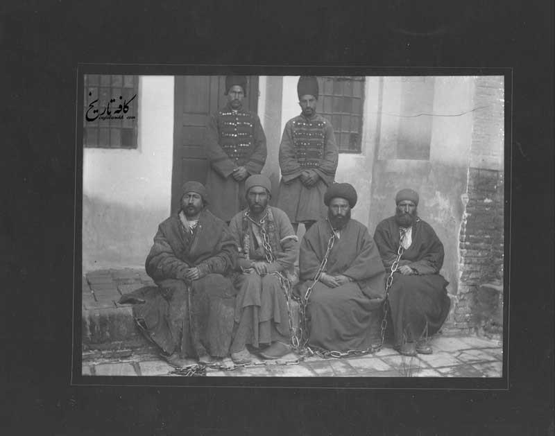زنجیر کردن زندانیان عصر ناصری