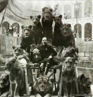 سیرکی در روسیه با حیوانات وحشی/1905