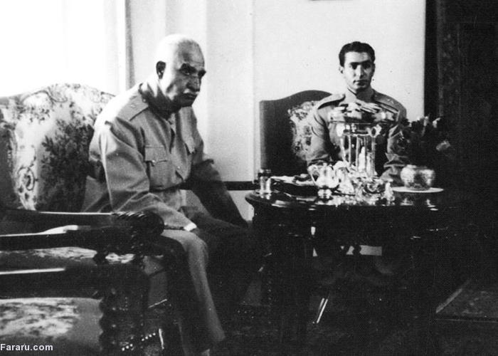 لوازم رضا خان موقع خروج از ایران