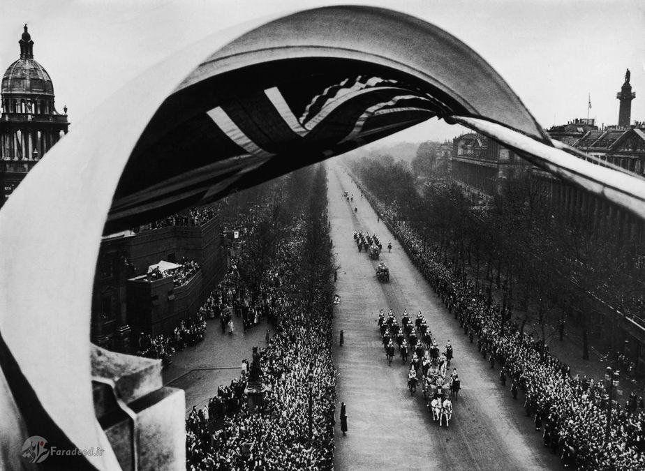 تصاویری جذاب از مراسم عروسی ملکه الیزابت