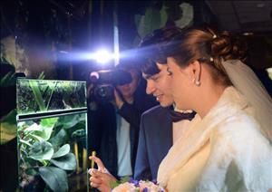 تصاویر/ جشن ازدواج در باغ وحش