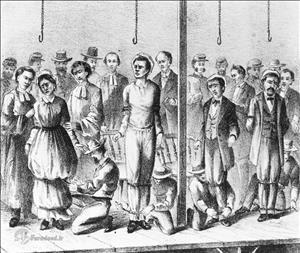 اولین زنی که اعدام شد