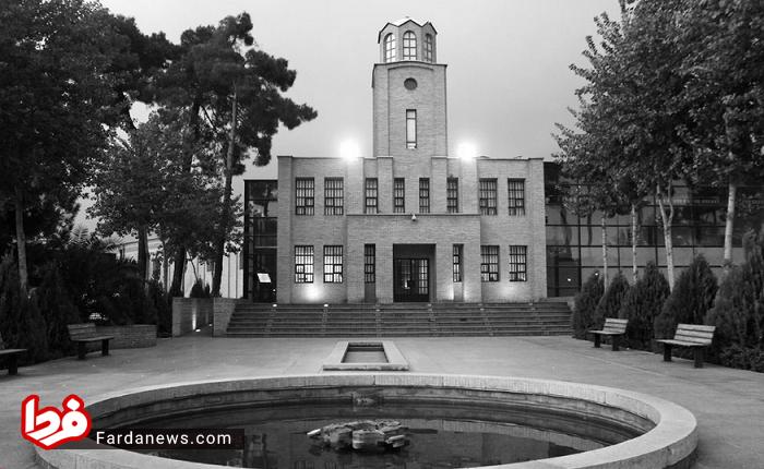 زندانیان زندان قصر در دوره رضاشاه پهلوی در محوطه زندان