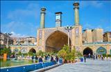 نمایی  از ایوان  و گلدسته  مسجد شاه (سلطانی ) تهران