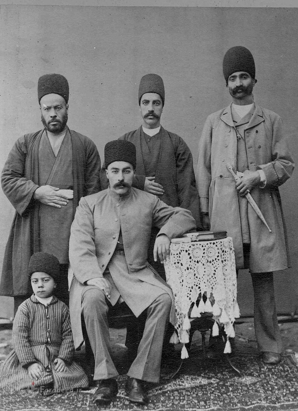 پوشاک مردان ایرانی در زمان قاجاریه